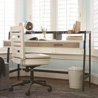 Universal #myRoom Grey/Parchment Elm Veneer Wood Desk