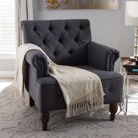 Gracewood Hollow Pierce Modern Grey Tufted Armchair