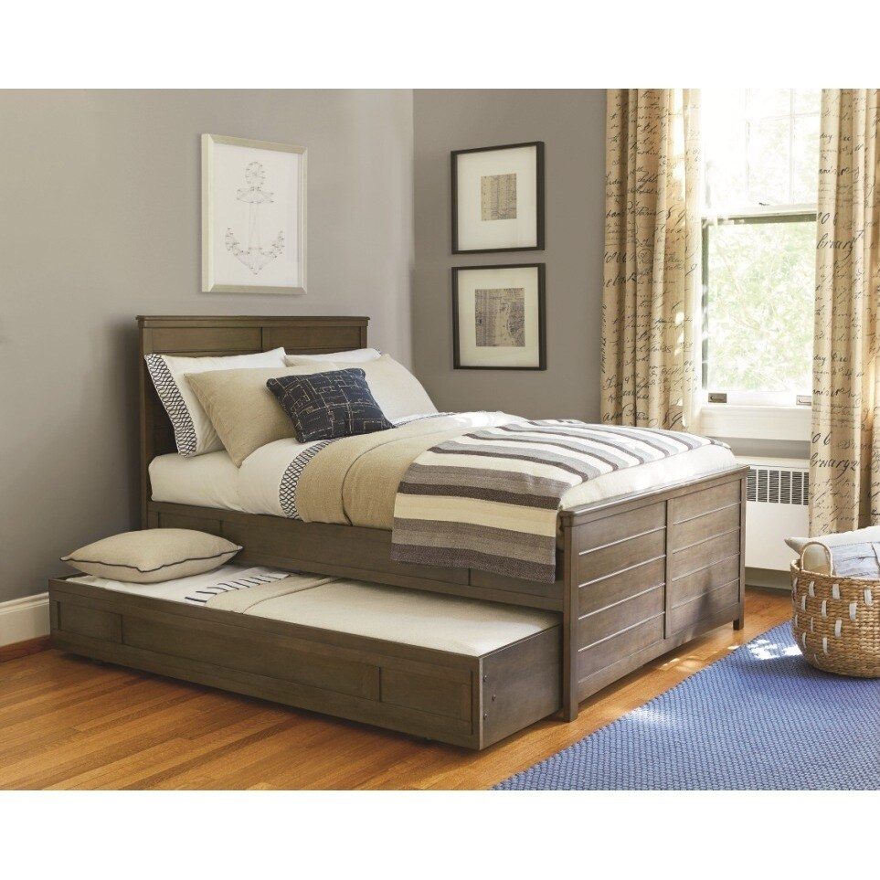 Universal Contemporary Brown Trundle Bed (Bed), Size Twin