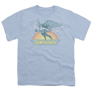 DC/Hawkwoman Short Sleeve Youth 18/1 in Light Blue
