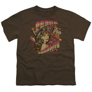 DC/Peace Short Sleeve Youth 18/1 in Coffee