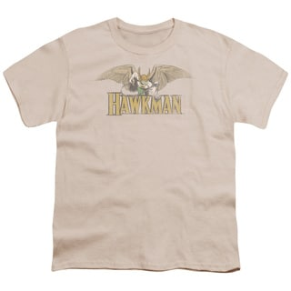 DC/Hawkman Short Sleeve Youth 18/1 in Sand