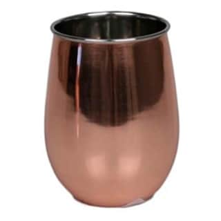 Stainless Steel 18-ounce Copper Finish Stemless Double-walled Wine Glass