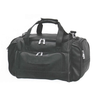 Goodhope Red-Eye Black Synthetic Leather Carry-on Duffel Bag