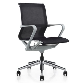 M1 Grey/Black Mesh Executive Mid-back Office Chair