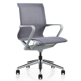 M1 Grey Mesh Executive Mid-back Office Chair