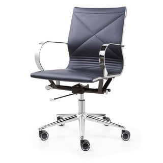 M365 Navy Blue Vegan Leather Office Chair