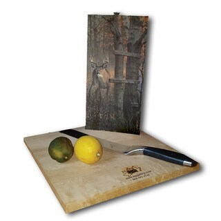WGI Gallery (The) Buck Stops Here Wood Cutting Board (2 options available)