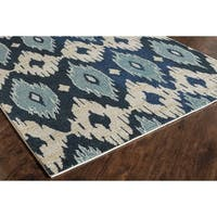 """Beatrice Blue Abstract Area Rug (5'3"""" x 7'6"""") - 5'3 x 7'6"""