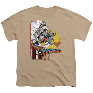 DC/Off The Rails Short Sleeve Youth 18/1 in Sand