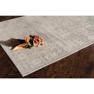 Morgan Grey Polypropylene Power-Loomed Rug (60 inches x 96 inches)