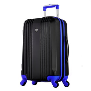 Olympia Apache II Black ABS 21-inch Carry-on Hardside Spinner Suitcase