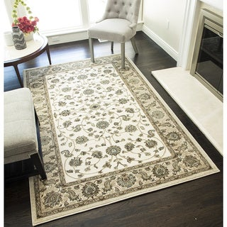 Woven Accents Riley Collection Harper Floral Polypropylene Rug (60 x 96)
