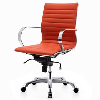 M365 Orange Vegan Leather Office Chair