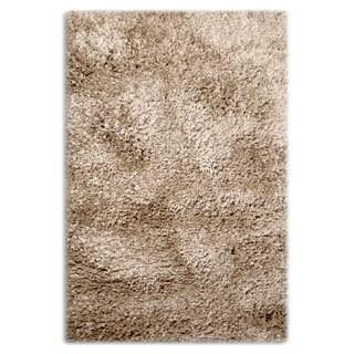 Sultansville Colorville Cappuccino/Dark Grey Polypropylene Shag Rug (3'11 x 5'11)