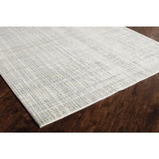 Delos Ivory Gray  Abstract Area Rug (5' x 8') - 5' x 8'