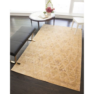 Woven Accents Westford Collection Gold/Yellow Polyester Power-loomed Kingsley Rug (5 x 8)