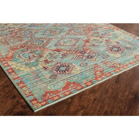Westford Multi Polyester Power-loomed Rug (5' x 8') - 5' x 8'
