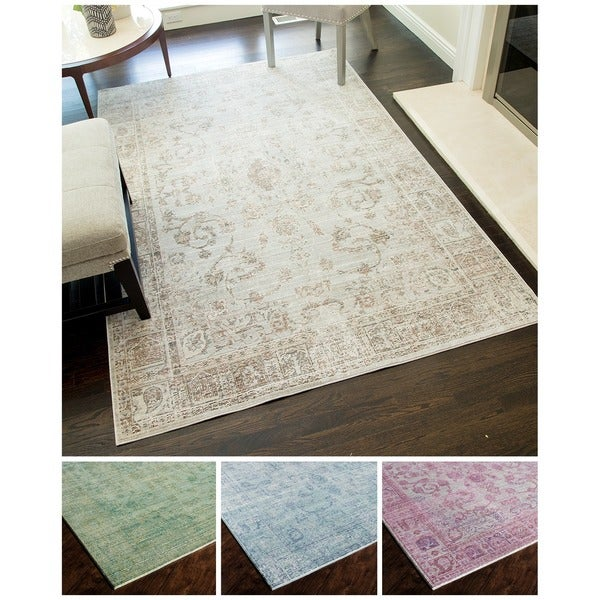 Goddess Purple Floral Area Rug - 5' x 8'