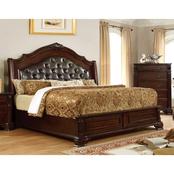 Bed Sales Online: Shop Furniture Of America Mikaela Traditional Brown Cherry