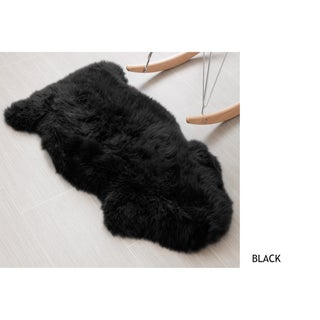 Genuine Soft Australian Sheepskin Rug - 2' x 3' (Option: Black)