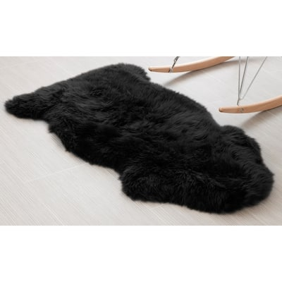 Black Suede Area Rugs Online At