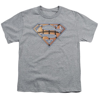 Superman/Basketball Shield Short Sleeve Youth 18/1 in Heather
