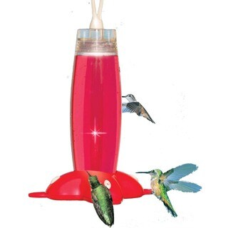 Perky Pet 19 Oz Rose Petal Hummingbird Feeder