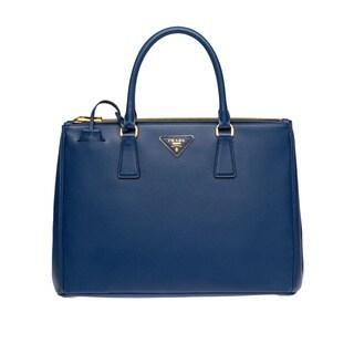 Prada Galleria Cornflower Blue Saffiano Leather Satchel