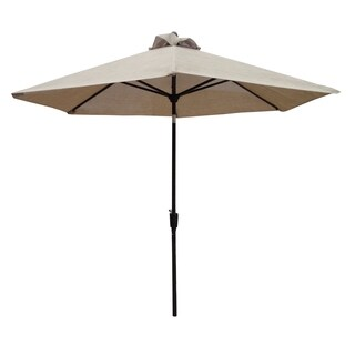 Oakland Bali Black/Tan Polyester/Aluminum Vented 9-foot Patio Umbrella