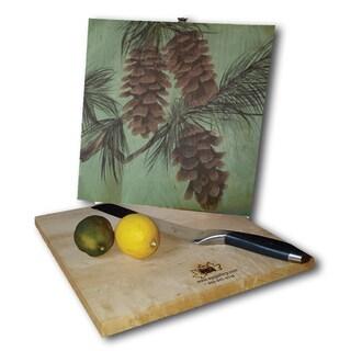 WGI Gallery Pine Cone New Wood Cutting Board