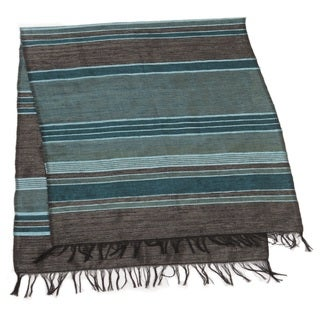 Handmade Ocean Blue and Green Table Runner (Morocco)