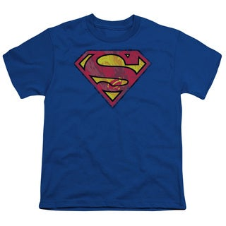 Superman/Action Shield Short Sleeve Youth 18/1 in Royal