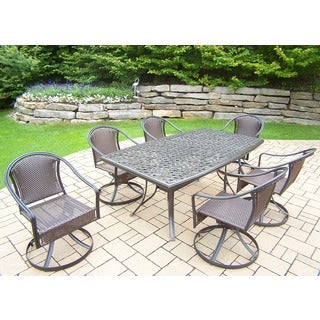Aluminum Table and Chairs 7-piece Dining Set