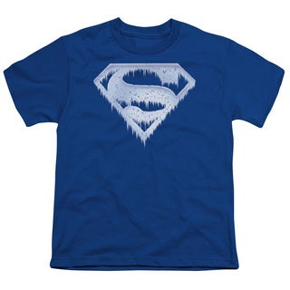 Superman/Ice and Snow Shield Short Sleeve Youth 18/1 in Royal