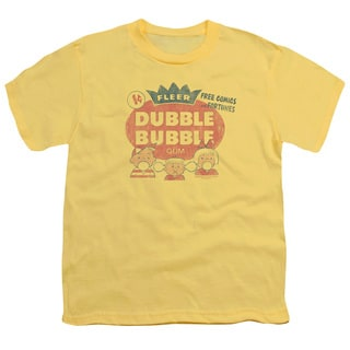 Dubble Bubble/One Cent Short Sleeve Youth 18/1 in Banana