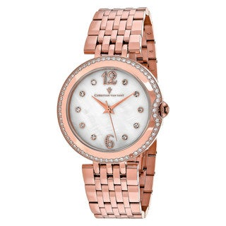 Christian Van Sant Women's CV1612 MOP Watch