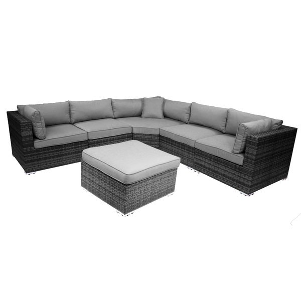 Key Largo Grey 6 Piece Outdoor Patio Sectional Set