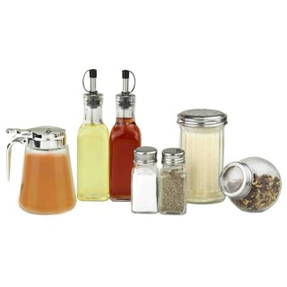 Home Basics 7-Piece Glass Condiment Set