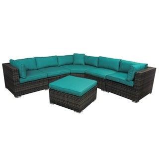 Key Largo Teal 6-Piece Outdoor Furniture Sectional Set
