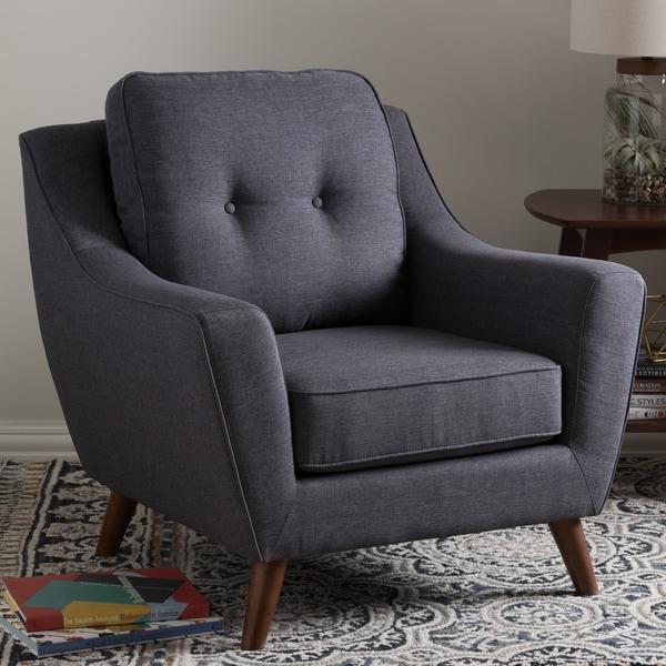 Shop Baxton Studio Medeia Mid Century Modern Grey Tufted
