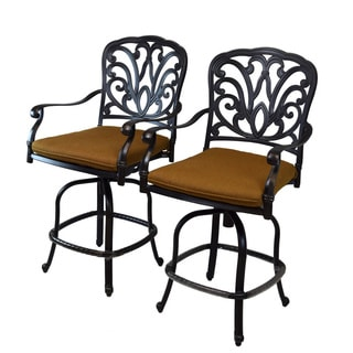 Oakland Living Sunbrella Cushioned Aluminum Bar Stools (Set of 2)