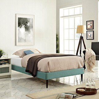 Sherry Laguna Fabric Bed with Round Tapered Legs