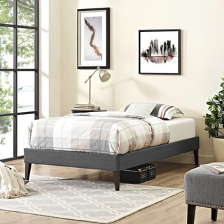 Modway Sharon Grey Fabric Squared/Tapered-leg Bed