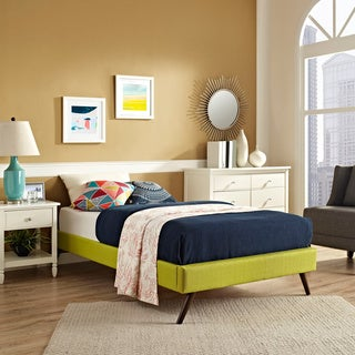 Helen Wheatgrass Wood Bed with Round Splayed Legs