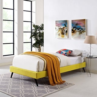 Helen Sunny Wood Bed with Round Splayed Legs