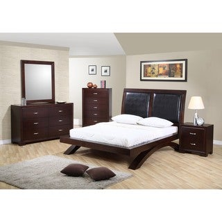 Picket House Furnishings Zoe Platform Bed w/ Upholstered Headboard