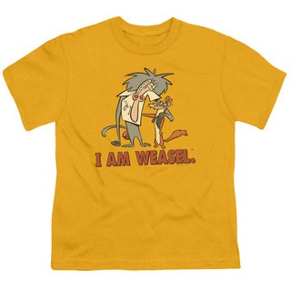 I Am Weasel/Buddies Short Sleeve Youth 18/1 in Gold