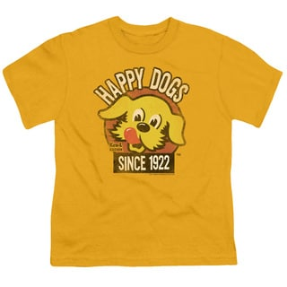 Ken L Ration/Happy Dogs Short Sleeve Youth 18/1 in Gold