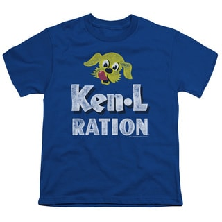 Ken L Ration/Distressed Logo Short Sleeve Youth 18/1 in Royal